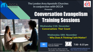 Converstation Evangelism training session